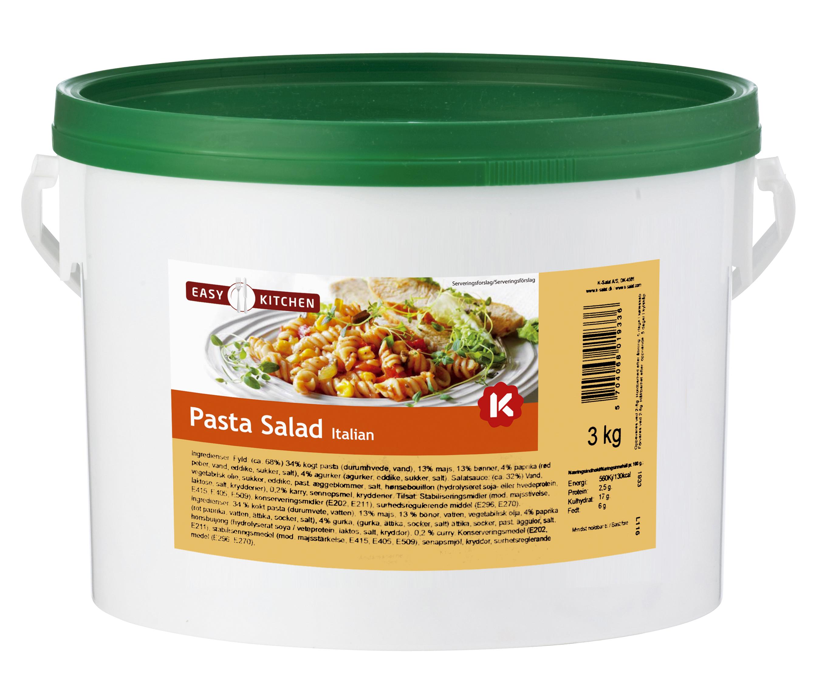 K-Salat Pastasalat Italiensk 3 kg
